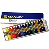 Ceras Manley 15 Colores 6cm =000552=