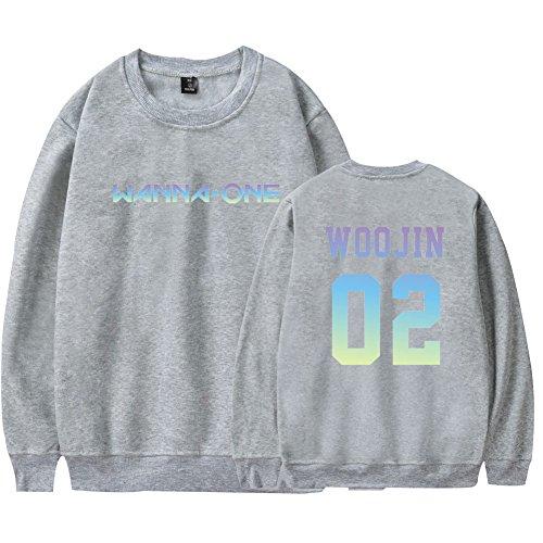 Plus Col Nouveau Ctooo 1 One Homme Gris Velours Coréenne Combinaison En Même Rond Sweat À Wanna 2018 shirt w7xw4r8