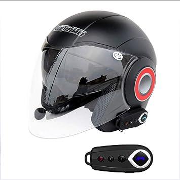 Medio De La Cara Abierta Casco De La Motocicleta Bluetooth + FM City Road Touring Cascos
