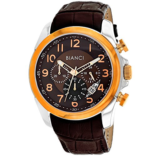 ROBERTO BIANCI WATCHES Men's 'Caravello' Quartz Stainless Steel and Leather Casual Watch, Color:Brown (Model: RB54462)