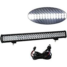 oEdRo 32 Inch Offroad Driving LED Work Light Bar Flood Spot Combo LED Driving Lights with Wiring Harness for Jeep ATV SUV 4WD Truck Boat 180W
