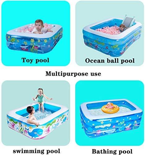 プール プール こども用、膨脹可能な子供プール創造的な漫画、 スイミングプールガーデン、 ファミリーラウンジプール、 夏の水パーティー (Color : Blue, Size : 5ft)