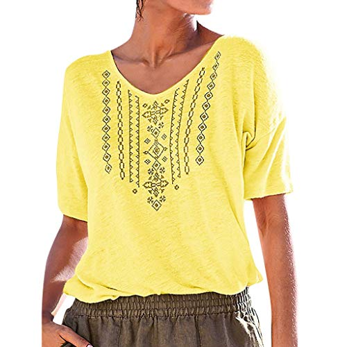 (MURTIAL Crop Top Hoodie Top Case v ne Tank Tops for Women Long Tops Ruched Tops for Women Lace Crop Top Top Cleaner Yellow)