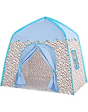 Kids Play Tent Princess Castle Play Tent Oxford Fabric Large Fairy Playhouse with Carry Bag for Boys & Girls Indoor Outdoor
