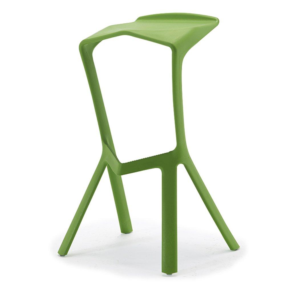 バースツール、プラスチック製不定形ハイチェアスツール、キッチンブレックファストチェア(76cm×50cm×45cm)グリーン、ベアリング200kg ( Color : Green ) B07CPL436R Green Green