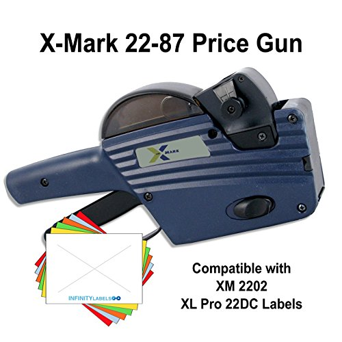 X-Mark Price Guns (10): TXM 22-87 Bulk PRICING [2 Line / 8/7 Characters] by Infinity Labels
