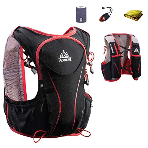 JEELAD 5L Hydration Backpack Running Race Water Vest for Marathon Hiking Biking Cycling