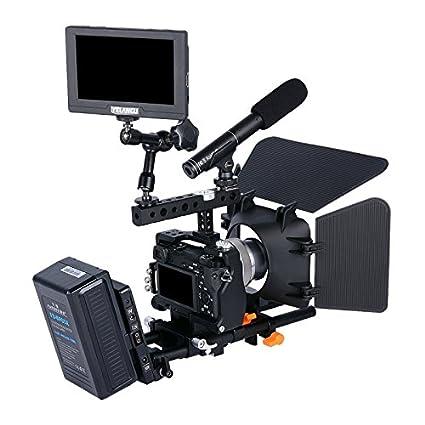 Amazoncom Camera Cage Kit For Sony A6000 A6300 A6500 Puluz
