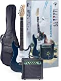 Stagg ESURF 250 TB US Surfstar Electric Guitar and Amplifier Package - Transparent Blue