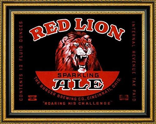 Red Lion Ale by Vintage Booze Labels - 16.25