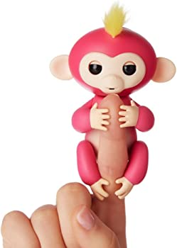 WowWee Fingerlings Interactive Baby Monkey (Pink w/Yellow Hair)