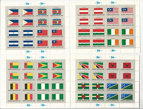 1982 Flag (United Nations, Postage Stamp, #374-389 Mint NH Sheets, 1982 Flags)