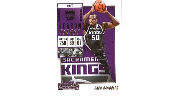 Amazon.com  2018-19 Panini Contenders Season Ticket  37 Zach Randolph  Sacramento Kings Basketball Card  Collectibles   Fine Art 9592c574f