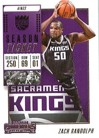 89f097511e6 2018-19 NBA Contenders Season Ticket  37 Zach Randolph Sacramento Kings  Official Basketball Card
