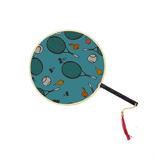 Raqueta de bádminton y raqueta de tenis Abanico antiguo ...