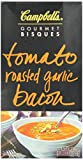 Campbell's Gourmet Bisques Tomato Roasted Garlic Bacon, 18.3 Ounce Boxes (Pack of 12)