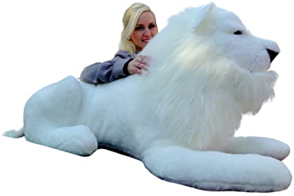 Big Plush American Made Giant Stuffed White Lion 48 Inches Soft Made in The  USA America fc8535816