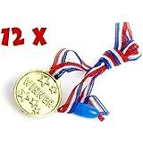 Set of 12 Childrens Plastic Winners Medals