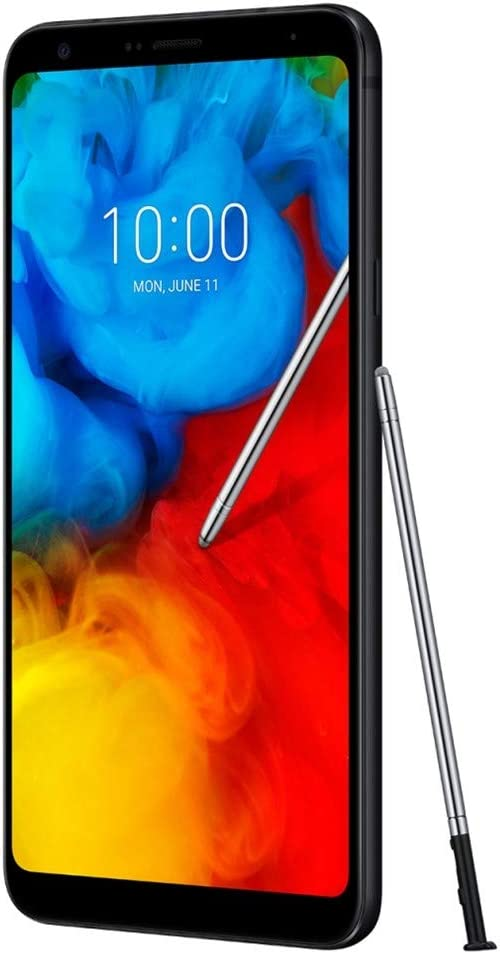 "LG Q Stylus+ Plus (64GB, 4GB RAM) 6.2"" FHD+ Display, IP68 Water Resistant, US + Global 4G LTE Single SIM GSM Factory Unlocked LM-Q710FA - International Model (Black)"