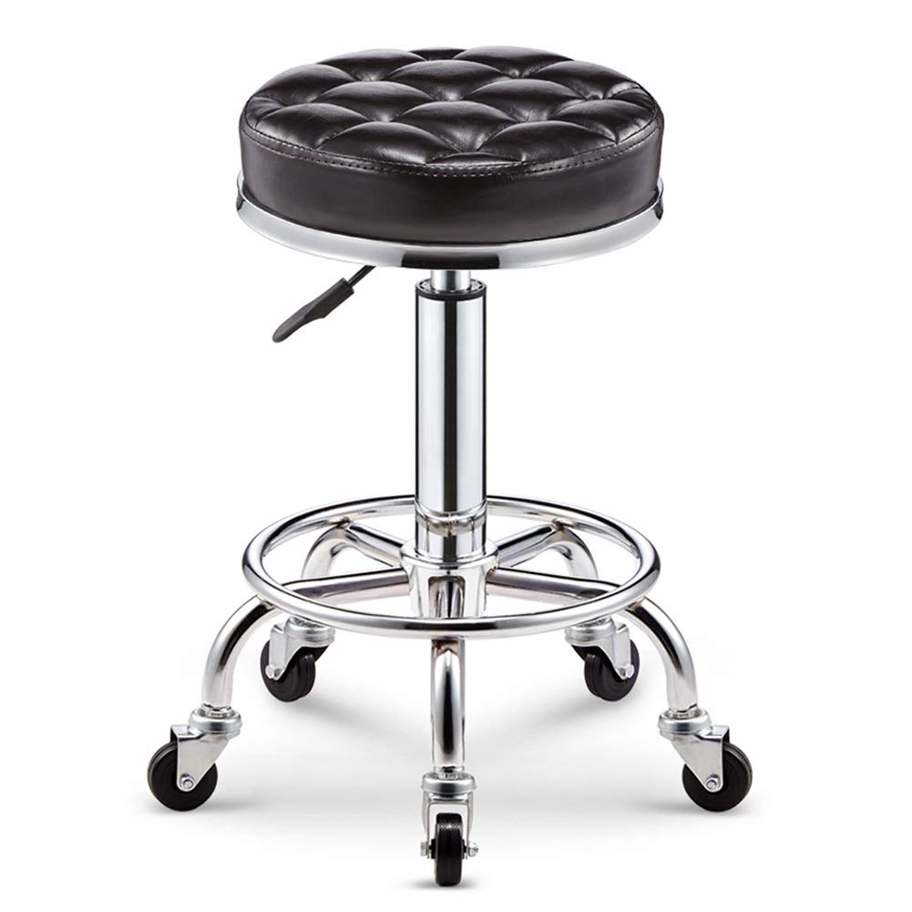 Black brown PU 3347cm ZHAOYONGLI Barstools,Stools Swivel Bar Stools Modern Adjustable Bar Chairs Large Seats Breakfast Stools (color   Light Cyan PU, Size   33  47cm)