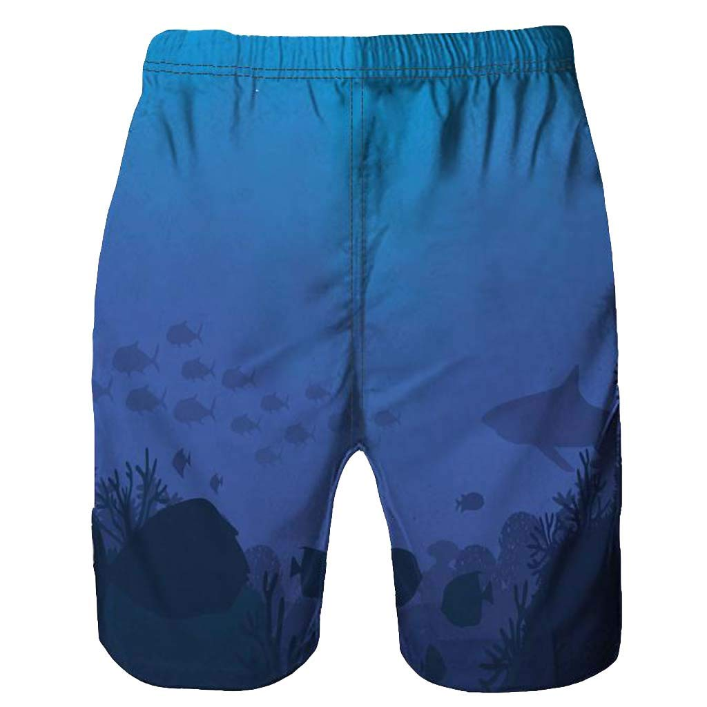 NUWFOR Men Casual 3D Graffiti Printed Beach Work Casual Men Short Trouser Shorts Pants(Blue,US:M Waist9.1-33.1'') by NUWFOR (Image #3)