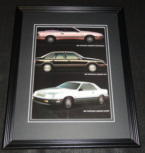 Chrysler Lebaron Gts - 1987 Chrysler Lebaron GTS Convertible & Coupe Framed ORIGINAL Advertisement