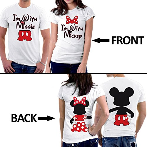 picontshirt Mickey Minnie Two Sided Matching Couple Shirts