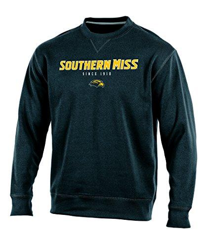 (Champion (CHAFK) NCAA Southern Mississippi Golden Eagles Adult Men Crew Neck Fleece, Large, Black)