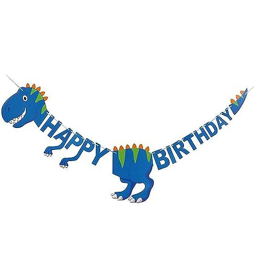 DC CLOUD Banderines Fiesta Feliz Cumpleaños Dinosaurios ...
