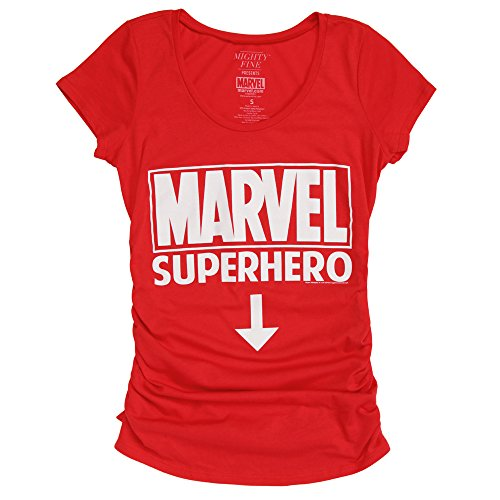 Marvel Comics Future Superhero Maternity T-Shirt - Red (Jack Maternity T-shirt)