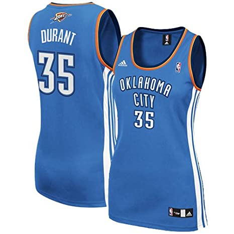 1744e5b79d0 adidas Kevin Durant Oklahoma City Thunder  35 Women s Replica NBA Basketball  Jersey (Blue)