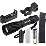 Flashlight,Baomabao 5000LM XM-L T6 LED Tactical Zoomable Flashlight Torch Light Lamp+18650 + Charger