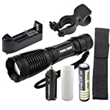 8000 lm flashlight - Flashlight,Baomabao 5000LM XM-L T6 LED Tactical Zoomable Flashlight Torch Light Lamp+18650 + Charger