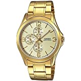 Casio MTP-V301G-9A Men's Standard Gold Tone Stainless Steel Multifunction Gold Dial Watch