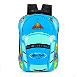 Cheap Kids Backpack 3D Cute Zoo Cartoon School Toddler Boys Girls Bags Blue car