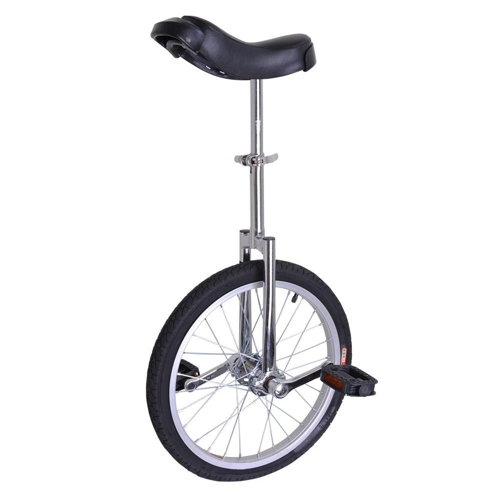 Eight24hours 18'' Silver Unicycle Cycling Scooter Circus Bike Skidproof Tire Balance Exercise