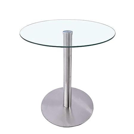 Wellgarden Pedestal Round Dining Table 80cm Diameter Glass Top