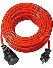 Brennenstuhl Bremaxx verlengkabel (10m kabel, voor gebruik buitenshuis IP44, 1161590, inzetbaar tot -35°C, olie- en UV-bestendig), oranje