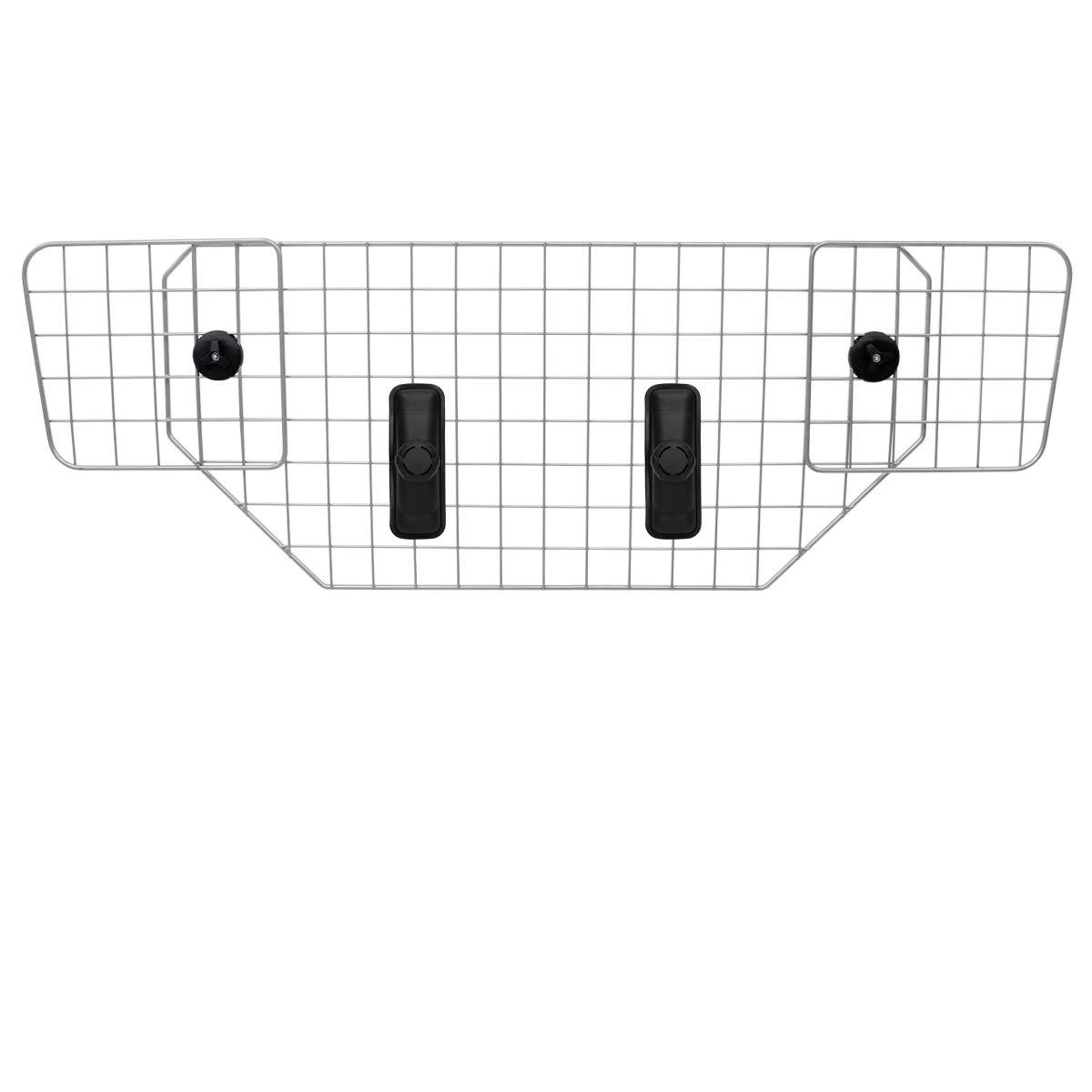 ECD Germany Griglia Protezione Bagagli Universale per Auto - Regolabile 82-148 cm - Griglia Separatrice Bagagli e Cani Universale Regolabile 82-148 Cm