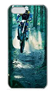 iPhone 5S Cases & Covers -motocross Custom PC Hard Case Cover for iPhone 5/5S ¨CTransparent