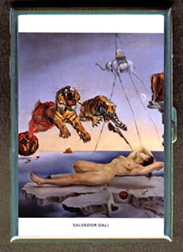 Salvador Dali Nude Dream Tiger Stainless Steel ID or Cigarettes Case (King Size or - Salvador Cigarette Case Dali