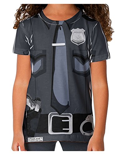 [TooLoud Police Costume AOP Toddler T-Shirt Dual Sided 6 yrs All Over Print] (Cop Costumes Tshirt)