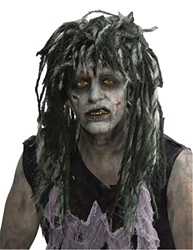 Rocker Zombie Adult Wig (UHC Mens Rocker Zombie Wig Horror Theme Adult Halloween Costume Accessory)