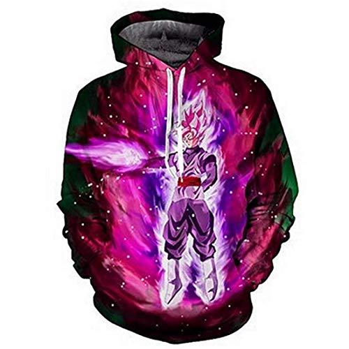 CHENMA Men Dragon Ball 3D Print Pullover Hoodie Sweatshirt with Kangaroo Pocket (Winter Color 2, Tag XXL/US XL)