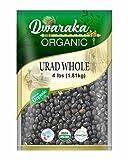 Dwaraka Organic Urad Whole Dal Lentil - USDA Organic (4 lbs / 1.81 kg)