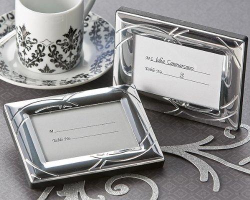 Double Ring Romance Mini Frame / Place Card Holder - Wedding and Bridal Shower Favor Guest Keepsake Gift (BULK BUY SALE)