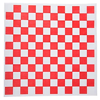 amazon com checkered deli basket liner 12 x 12 inches red and