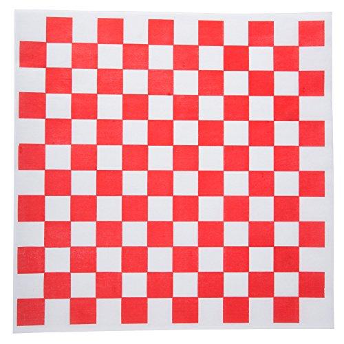 Checkered Deli Basket Liner, 12 X 12 Inches,