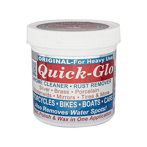 Quick Glo Chrome Cleaner - 8 ouces. Jar