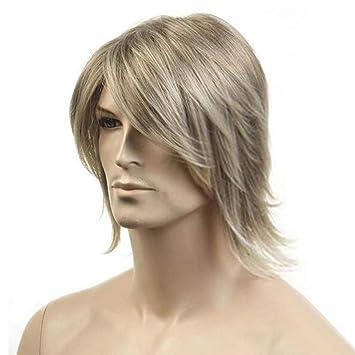 Desconocido Peluca Pelo Corto de la Peluca de los Hombres de la Manera del Pelo Masculino